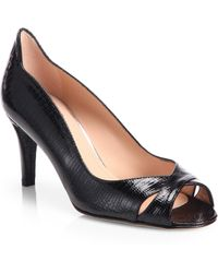Stuart Weitzman Showupritz Lizardembossed Pumps - Lyst