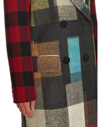 Preen | Alexis Double-breasted Checked Wool Coat | Lyst
