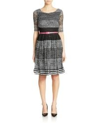 Chetta B Striped Fit-And-Flare Dress - Lyst