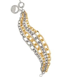 Giles & Brother Gold and Silver-plated Crystal Bracelet - Lyst