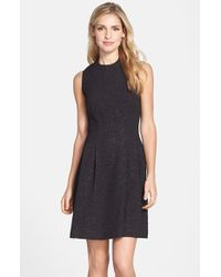 Marc New York By Andrew Marc Jacquard Fit & Flare Dress - Lyst