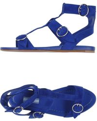 Prada Sandals blue - Lyst