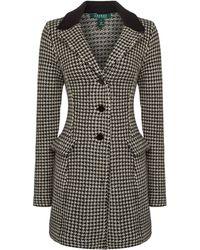 Lauren by Ralph Lauren - Long Sleeve Wool Coat - Lyst
