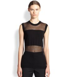 McQ by Alexander McQueen Semi-Sheer Muscle Tunic - Lyst