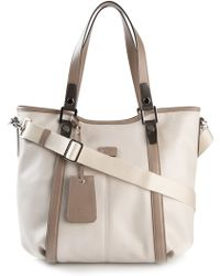 Tod's Large Logo Plaque Tote - Lyst