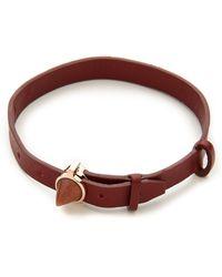 Eddie Borgo - Inlaid Cone Leather Bracelet - Rose Gold - Lyst