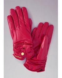 Bebe - Short Leather Gloves - Lyst