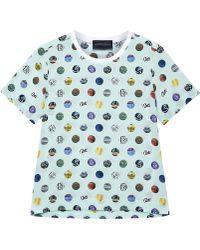 Antipodium - Hackney Spot Silk T Shirt - Lyst