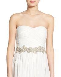 Nestina Accessories - 'grand Belinda' Crystal Bridal Sash - Lyst