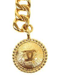 Chanel Pre-Owned Cc Burst Medallion Belt - Lyst