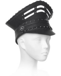 House of Malakai - Military Leather Hat - Lyst