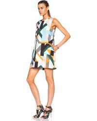 MSGM Geometric Print Cotton-Blend Tank Dress - Lyst