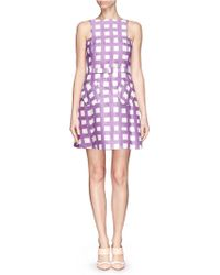 Chictopia - Grid Check Pinafore Dress - Lyst