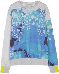 Preen Hutton Blue Splash Printed Jumper - Lyst