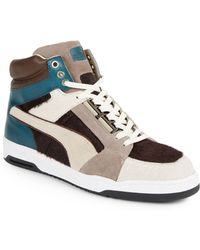 Puma Slipstream Leather & Pony Hair Sneakers - Lyst