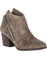 Belle By Sigerson Morrison Lara Ankle Boot Alpaca Suede - Lyst