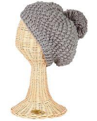 San Diego Hat Company Womens Popcorn Knit Pom Beanie - Lyst