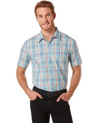 Perry Ellis Classic Fit Gingham Check Sport Shirt - Lyst