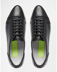 Bronx - Black Leather Plimsolls - Lyst