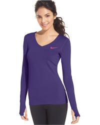 Nike Pro Long-Sleeve Active Top - Lyst