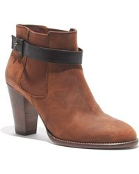 Madewell The Lonny Boot in Distressed Leather - Lyst