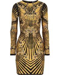 Hervé Léger Studded Bandage Dress - Lyst