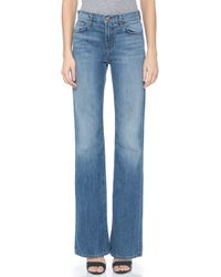 J Brand Sabine High Waisted Flare Jeans - Swan Song - Lyst