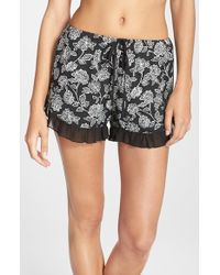 Band Of Gypsies - Floral Print Shorts - Lyst