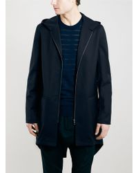 Long Street Tailor Navy Fishtail Parka - Lyst