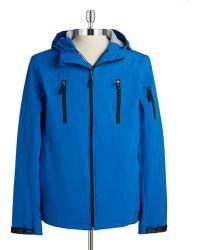 Calvin Klein Hooded Water Resistant Jacket blue - Lyst