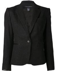 Ralph Lauren Leather Trim Blazer - Lyst