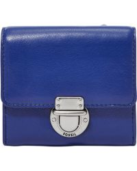 Fossil Riley Leather Small Flap Wallet - Lyst