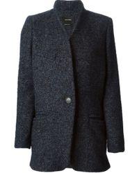 Isabel Marant Blue Tweed Jacket - Lyst