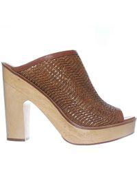 Pour La Victoire | Sanya Peep-toe Mule Pump Heels | Lyst