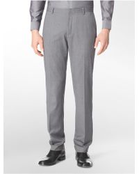 CALVIN KLEIN 205W39NYC - White Label Slim Fit Solid Dress Pants - Lyst