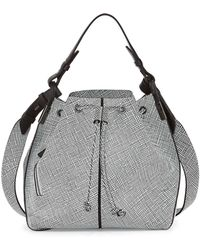 Time's Arrow - Lida Grid Multi-carry Bucket Bag - Lyst