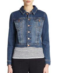 Eileen Fisher Stretch Cotton Denim Jacket - Lyst