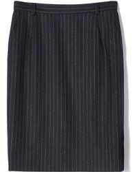 Bally Wool Pinstripe Skirt - Lyst