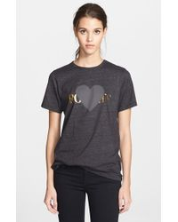 Rodarte 'Rohearte' Heart Graphic Tee black - Lyst
