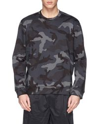 Valentino Camouflage French Terry Sweatshirt - Lyst