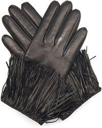 Diane von Furstenberg - Fringe Leather Gloves - Lyst