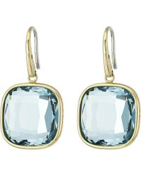 Michael Kors Botanicals Silver & Pave Turquoise Triangle Motif Stud blue - Lyst