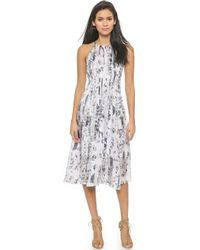 Club Monaco Dauphine Silk Dress - Spellbound/Blanc De Blanc - Lyst