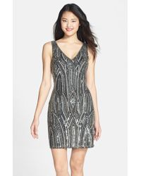Adrianna Papell | Embellished Sheath Dress | Lyst