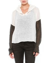Wildfox Panda Face Hooded Billy Crop Sweater - Lyst
