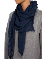 7 For All Mankind - Scarf Modal Blue - Lyst