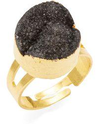 Panacea - Faux Marcasite Druzy Ring - Lyst
