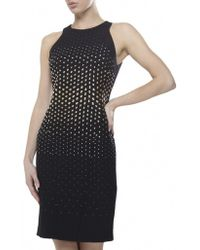 Versace Studded Pencil Dress - Lyst