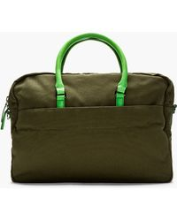 Marc By Marc Jacobs - Green Canvas Pin It To Win It Briefcase - Lyst