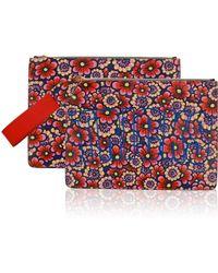 House of Holland Bag Of Tricks Flower Wallpaper floral - Lyst